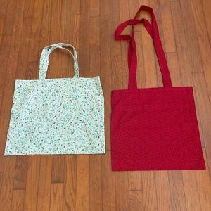 Handmade cotton tote/market bags